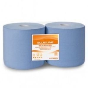 ЕВРОКАРТ- Индустриална  кухн. ролка - синя.3 пл.(2бр./стек) - ЛИН (C453A.25G)