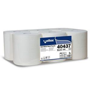 СЕЛТЕКС - Харт.кърпи за ръце, 100% целулоза  - аутокът, 100 м ., 3 пл. (6 бр./стек) (C40437)