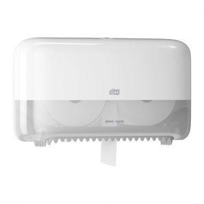 Торк - Диспенсър за тоал. хартия на ролки T7 - двоен, - бял - Twin Coreless Mid-size (558040)