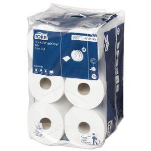 Торк - Тоал. хартия централно изтегляне T9, целулоза, 2 пл., 13,50см х 18 см.(12р./стек) -  SmartOne mini Toilet Roll (472193-38)
