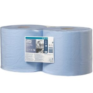 Торк - Индустрилана ролка W1, W2 , целулоза, 2 пл., синя (2 бр./стек)(500 къса/руло) - Heavy Duty (130072)