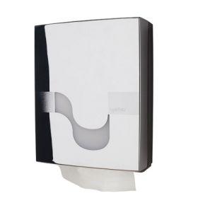 СЕЛТЕКС - Диспенсър за харт. кърпи V -  MEGAMINI, хром (C93100)