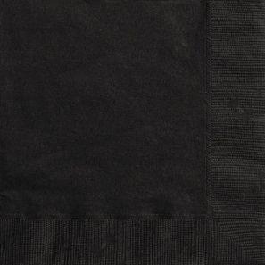 Салфетки 25x25 черни /4020 бр./