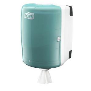 Торк - Диспенсър за кухн. ролка с централно изтегляне W2 - бял/тюркоаз -  Maxi Centrefeed (653000-38)
