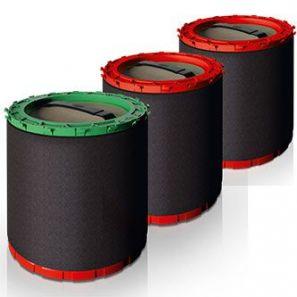 Унгер - Филтри за неутрализация на водата  комплект 1 зелен и два червени,към с-ма HYDRO POWER (DIUB3)