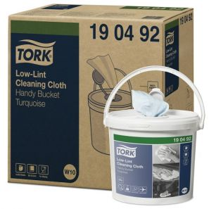 Торк - Кофичка с индустриална кърпа W10 - Low-Lint Cleaning, (200 кърпи /кофа)(4 кофи/кашон)(190492-39)