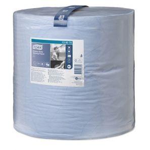 Торк - Индустрилана ролка W1 GIANT , целулоза, 2 пл., синя (1000 къса/руло) - Heavy Duty (130070-38)