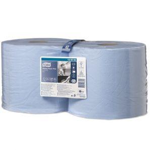 Торк - Индустриална ролка W1 / W2  целулоза, 2 пл. - синя (2 бр./пакет)(750 къса/руло) - CombiR (130052-38)
