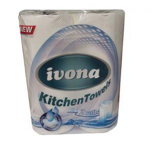 ИВОНА - Кухн. ролка целулоза, 2 пл.  (2 бр./пакет)(15пак./чувал) (2153)