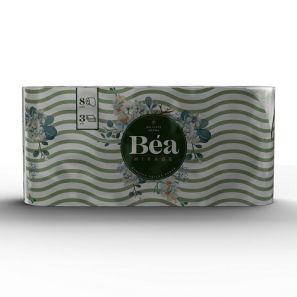 Беа Мираж - Тоал.Хартия- цел. с печат, аромат. 3 пл./125 къса ( 8 ролки/пакет) (244AN20ACB )