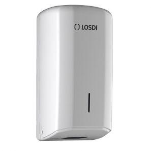 ЛОСДИ - Диспенсър за тоал. хартия пачка Z - бял ABS Eleg (CP0201B-L)