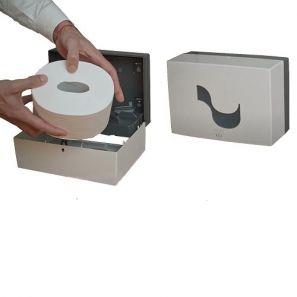 СЕЛТЕКС - Диспенсър за тоал. хартия цент. изтегляне MIDI - бял (C92720)