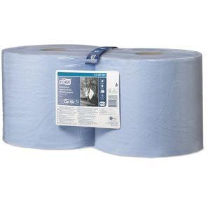 Торк - индустриална ролка W1, W2, 350 листа, (2 бр./ пакет) - СИНЯ (130081)