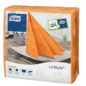 Торк - Салфетки Linstyle 39x39 см, 1 пл. (12 пакета/кашон х 50 бр.) – оранжеви (478851)